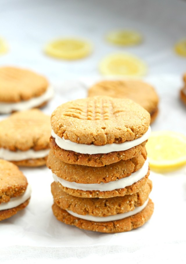 LEMON COCONUT CREAM SANDWICH COOKIES