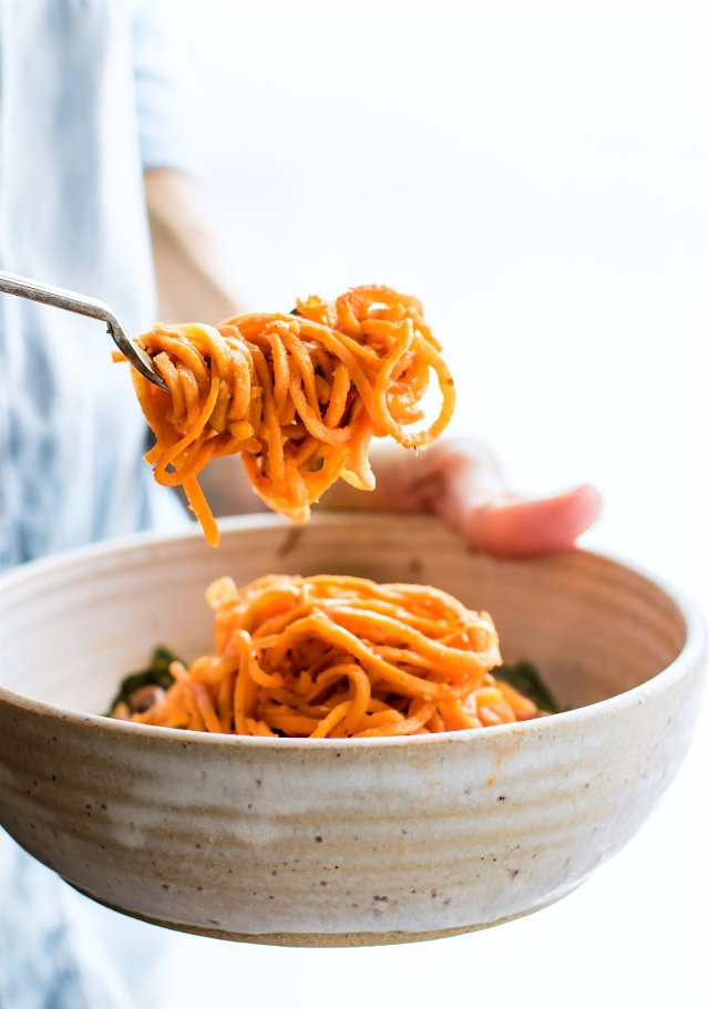 SNAPPY ITALIAN SWEET POTATO SPAGHETTI BOWLS