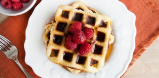 Lemon Poppy Seed Protein Waffles