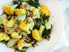 Turmeric Cauliflower Kale Salad with Roasted Pepitas