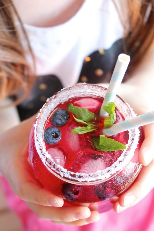 BLUEBERRY, MINT AND LIME ICED TEA