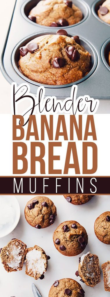 Blender Banana Bread Muffins