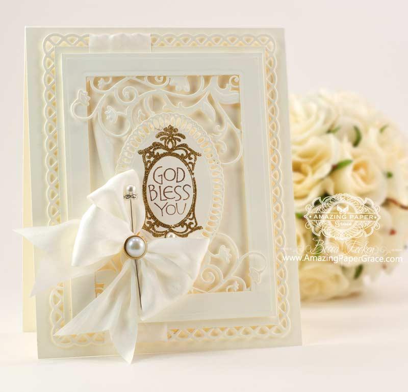 Cream Frame Garden Weave Card Amazing Paper Grace