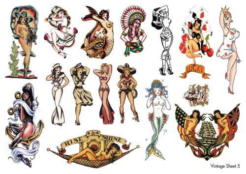 Vintage Temporary Tattoos