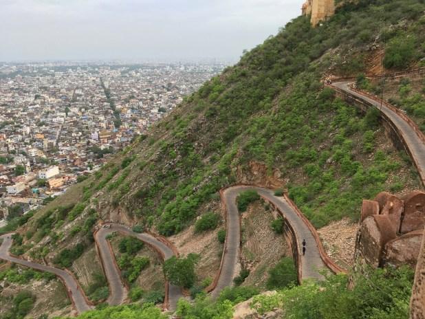 Amazing Road at Nahargarh Fort in Jaipur