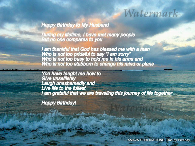 Happy Birthday To My Husband Ecard