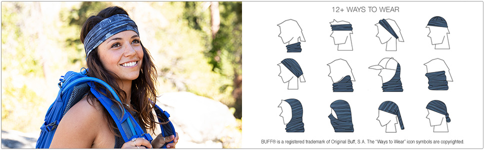 How to Wear CoolNet UV+ Multifunctional Headwear