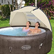 Extra privacy when relaxing in your hot tub