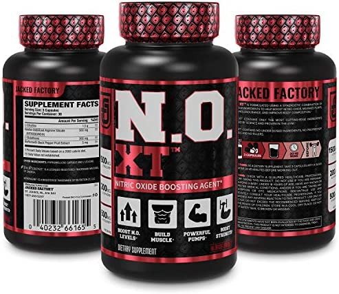 N.O. XT Nitric Oxide Supplement With Nitrosigine L Arginine & L Citrulline for Muscle Growth, Pumps, Vascularity, & Energy - Extra Strength Pre Workout N.O. Booster & Muscle Builder - 90 Veggie Pills 6