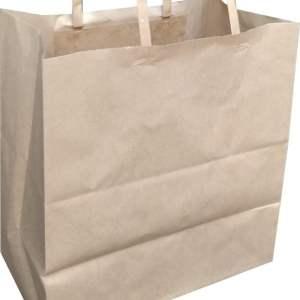 kağıt poşet düz saplı ine kraft poşet çanta