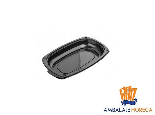 Platoua din plastic oval negru cu capac 335