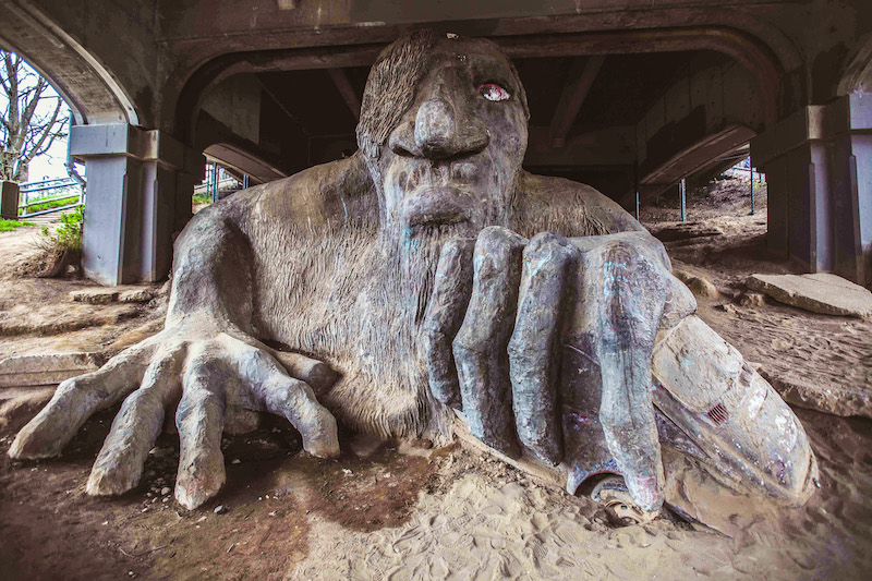 Fremont-troll 48 uur in Seattle