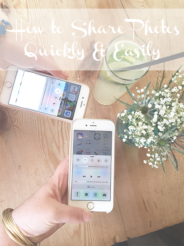 How To Share Photos from iPhone Quickly and Easily // amber-oliver.com