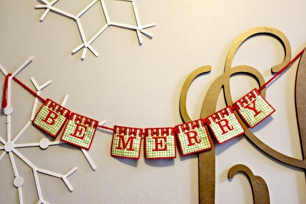 DIY Embroidery Banner Bunting