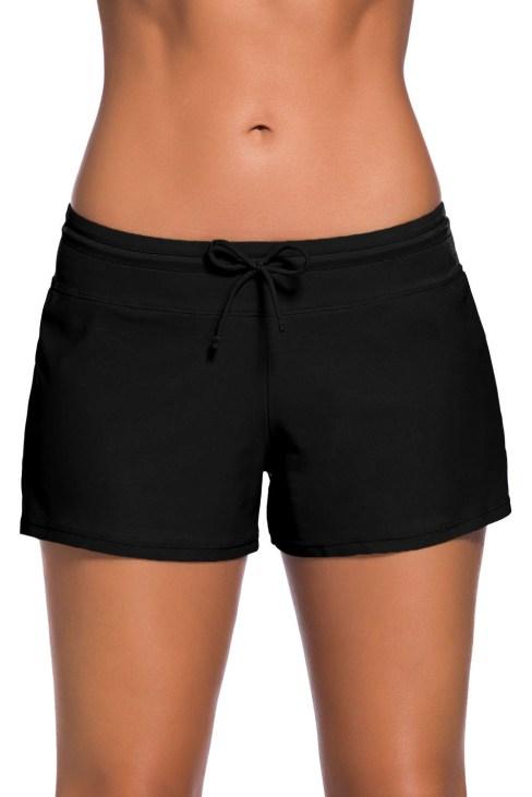 Agathe Women Swim Boardshort Black