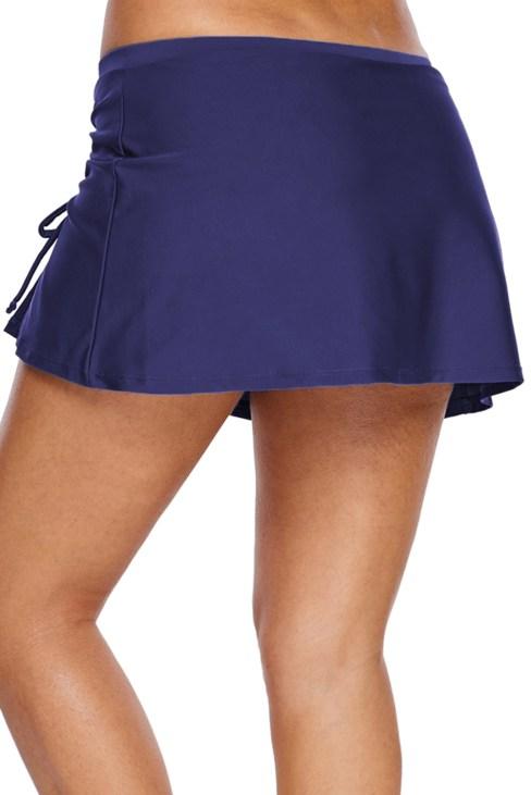 Evangeline Women's Ruched Side Vent Swim Skirt Black