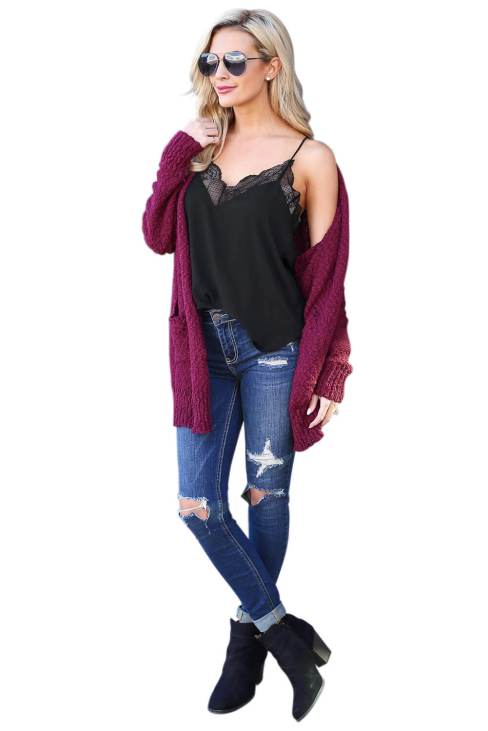 Paloma Women's V Neck Sleeveless Lace Trim Strap Cami Tank Top White