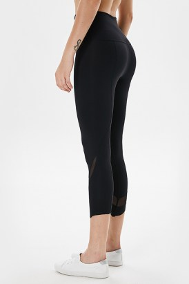 Gemma Women's Workout Tummy Control High Waisted Yoga Leggings Black
