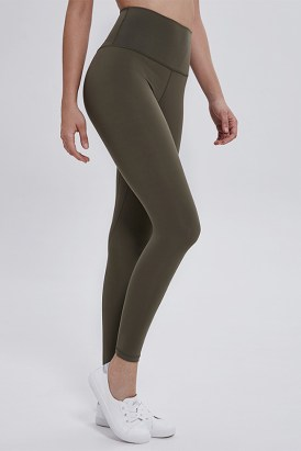 Molly Women's High Waisted Tummy Control Yoga Pants Army Green