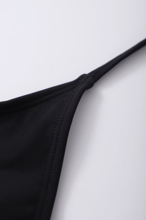 Carolina Women Halter Cross Wrap Floral Print One-piece Swimwear Black