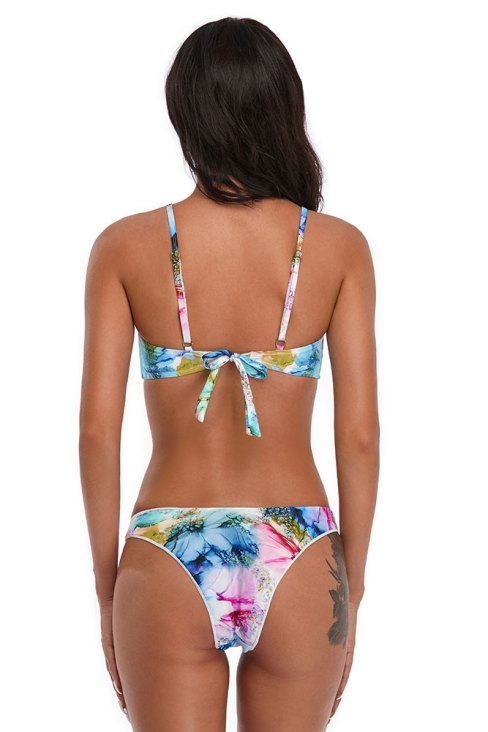 Dale Women's Push Up Low Neckline Strappy Swimsuits Set