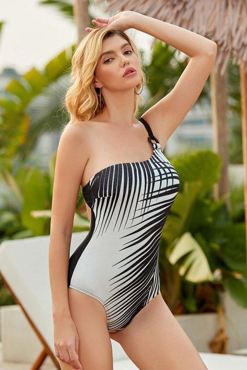 Arya Womens Tummy Control One-Piece Swimsuit One Shoulder