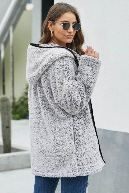 Noya Women Leave Them Waiting Dark Wubby Coat Gray
