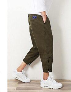 軍綠工裝褲