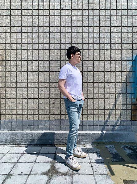 素色短袖T恤極致白