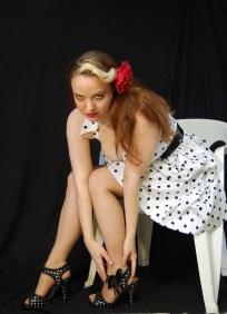 2010 Fife pinup white dress 0438