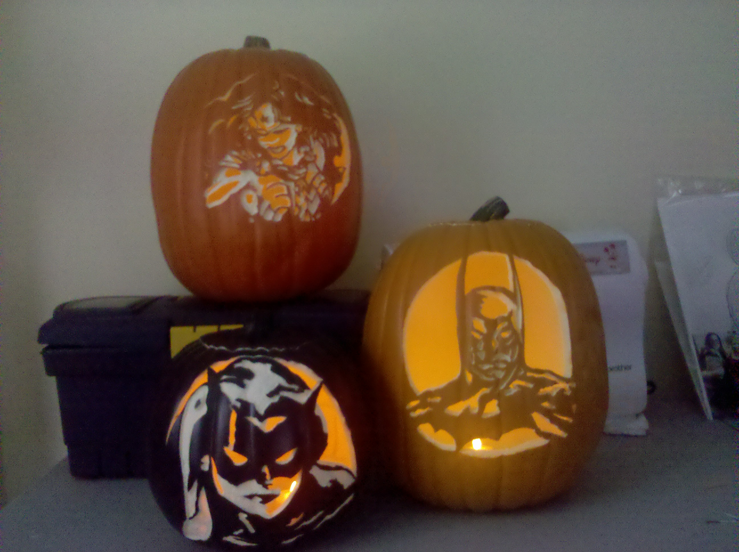 Pumpkin carving harley quinn based on terry dodson