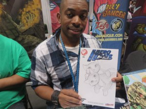 NYCC 2014 MARCUS WILLIAMS FROM HEROCATS