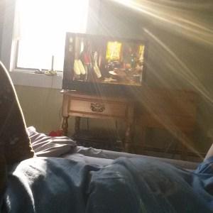 watching netflix Kimmy Schmidt