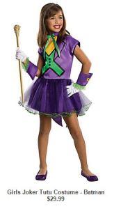 little girl joker costume