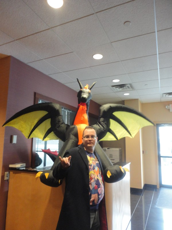 The author with a dragon