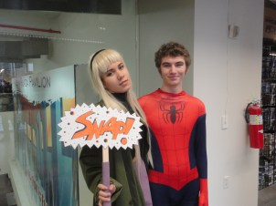 Gwen Stacy and Spiderman