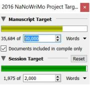 amberunmasked.com word counts nanowrimo