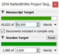 nanowrimo word counts