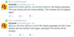 Dynamite Comics tweets