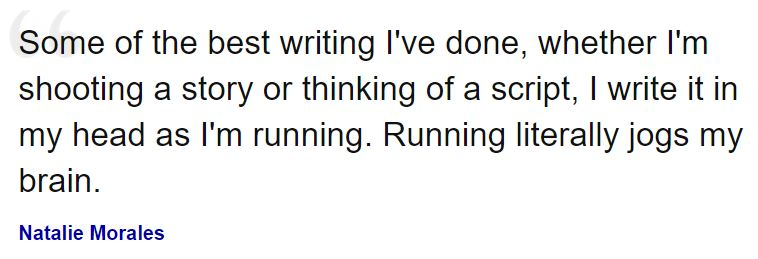 Natalie Morales on writing #quotes #womenshistorymonth #WHM