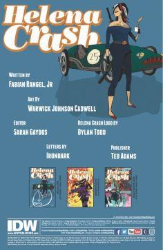 Helena Crash issue 1 credits