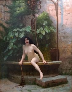 "Jean Léon Gerome 1896 ""Truth Coming Out of Her Well"""