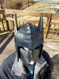 Klingon Batman helmet finished 2