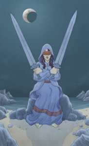 Two of Swords llewellyns classic tarot