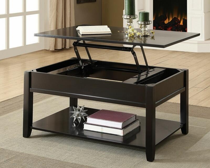 acme 82950 winston porter laverly malachi black finish wood lift top coffee table