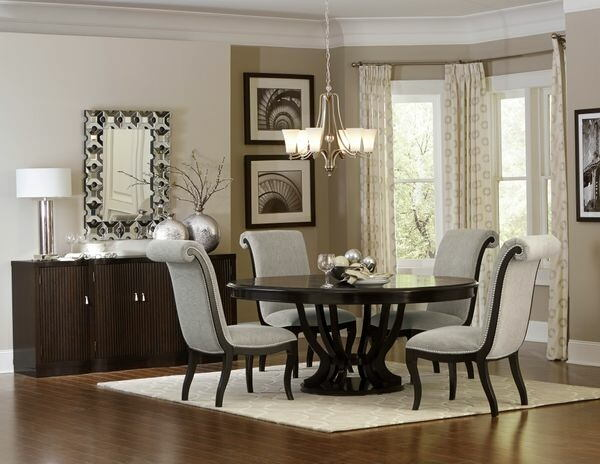 5494 76 7 pc Savion espresso finish wood pedestal 60  round   76     Home Elegance 5494 76 7 pc Savion espresso finish wood pedestal 60  round    76  oval dining table set