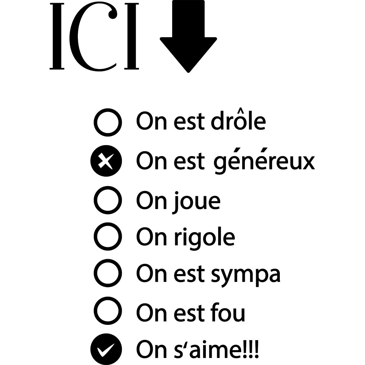 Sticker Citation Ici On Drle Gnereux Sympa
