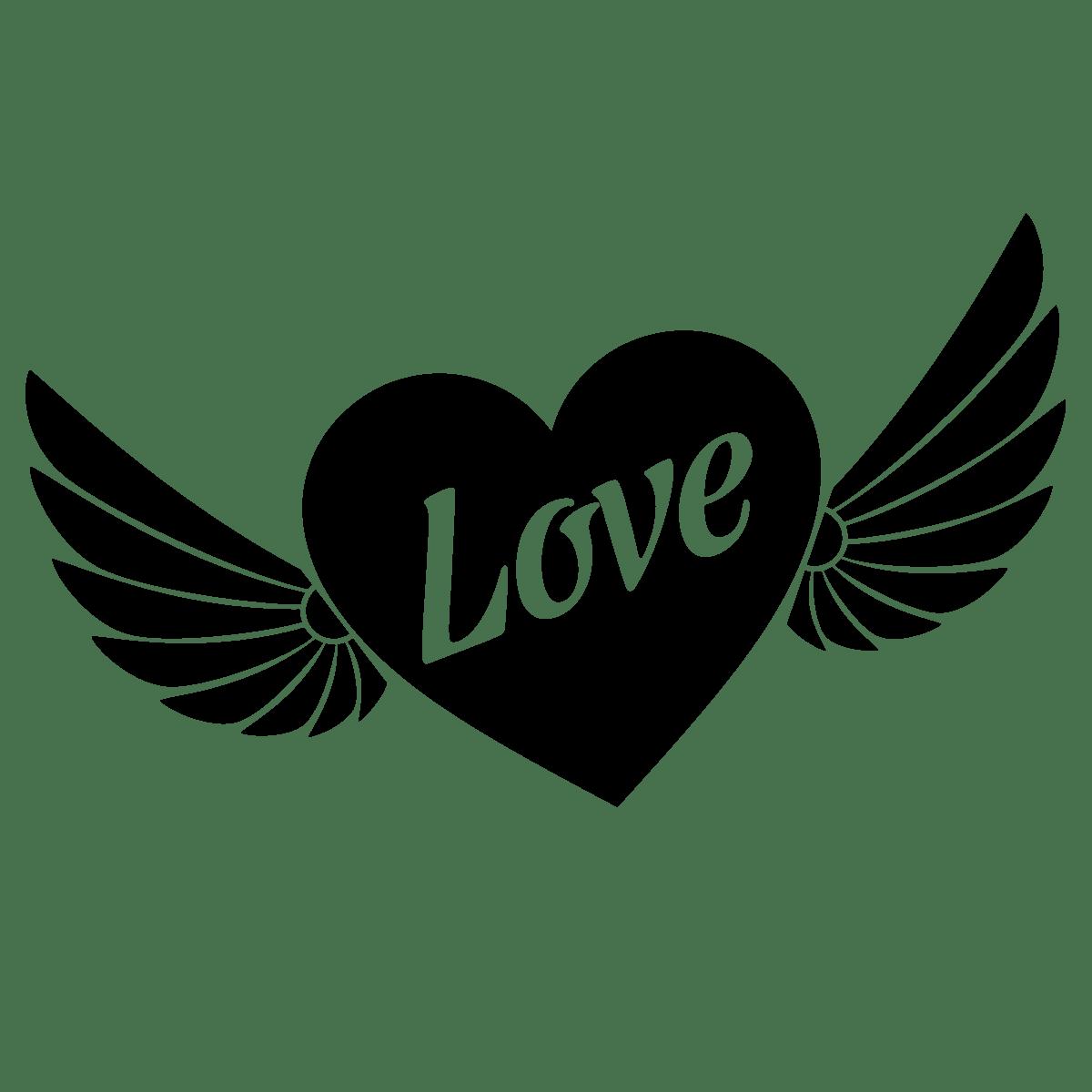 Sticker Coeur Avec Ailes Stickers Ftes Stickers Saint