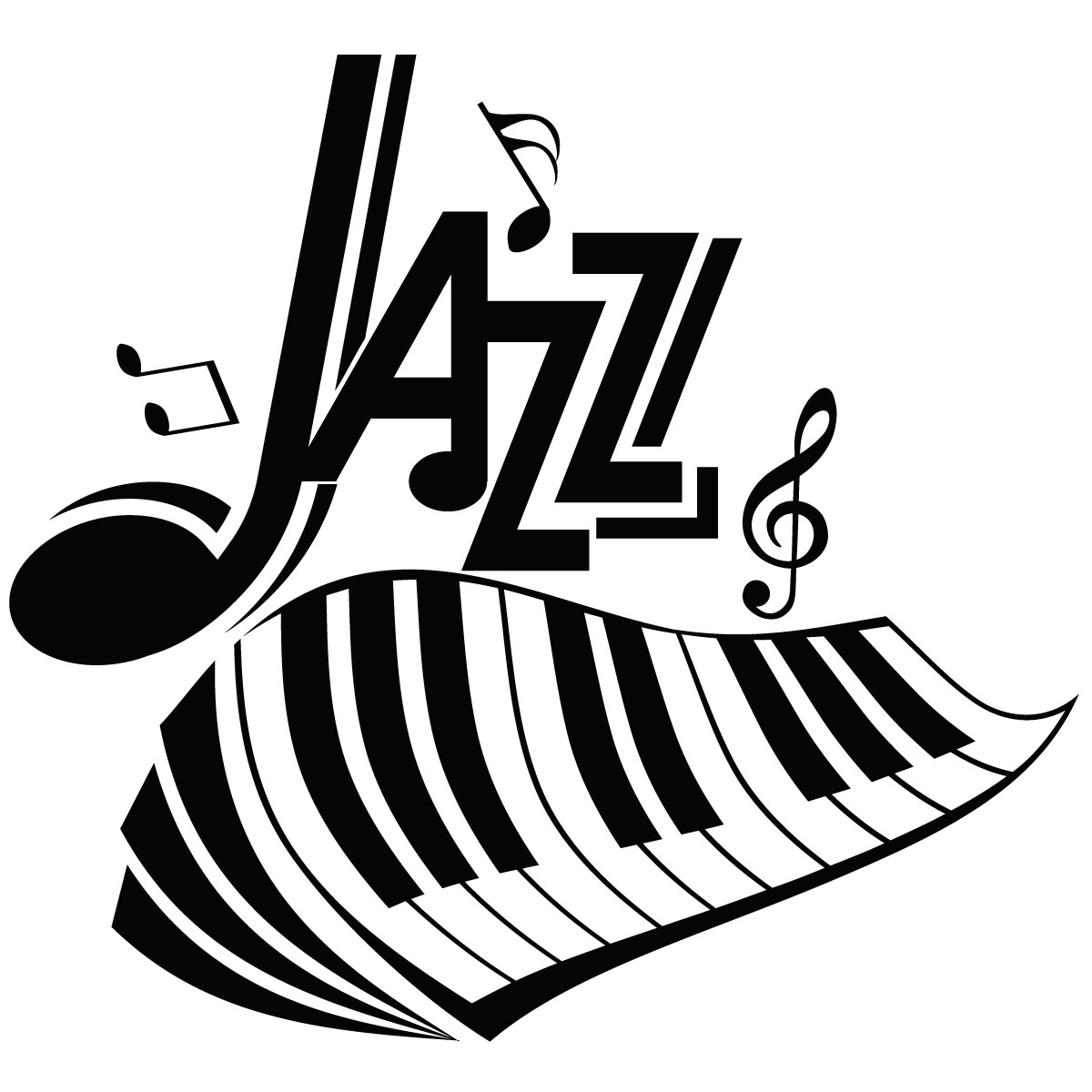 Sticker Design Piano Jazz