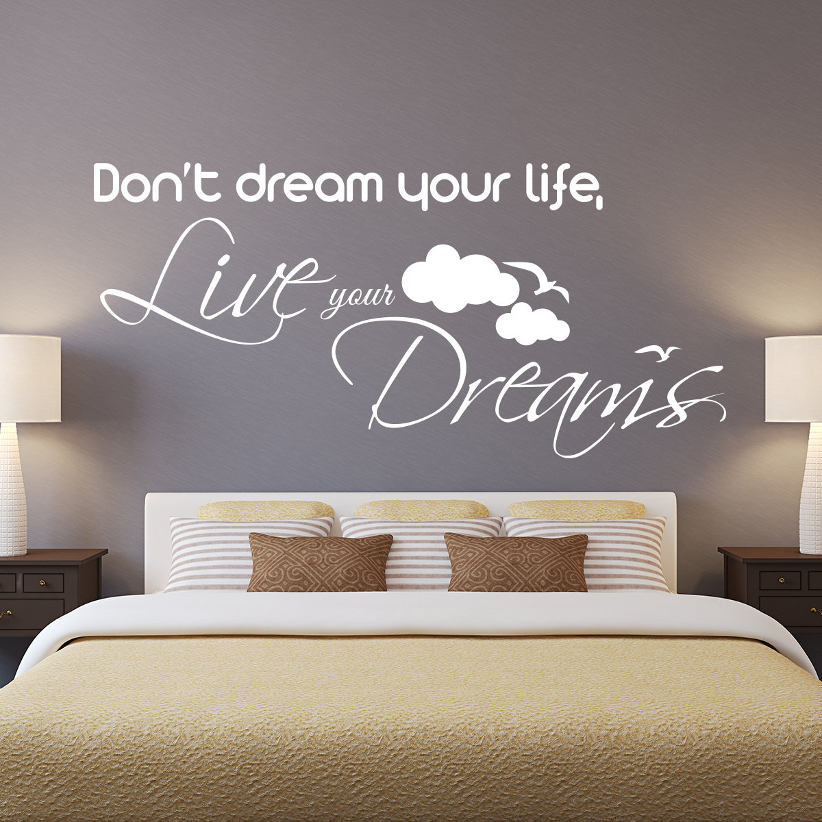 Sticker Dont Dream Your Life Live Your Dreams Stickers